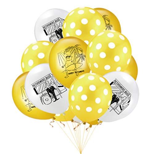 Amosfun 20 stücke Ruhestand Luftballons Latex Luftballons Glitter konfetti Luftballons für Ruhestand Thema Party Dekoration ohne Linie 3