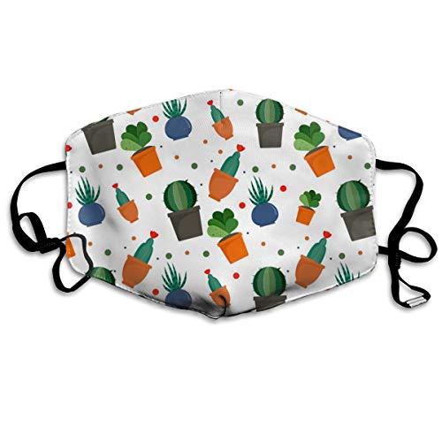 NB Mund-Polyester-Material, exotische Kakteen, mit Knöpfen zur Einstellung der Dichte, geeignet für alle.