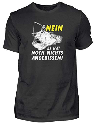 Nichts Angebissen - Angel-n Angler Fisch-en Geschenk Cool Lustig-e-r Spruch Geburtstag - Herren Shirt -XL-Schwarz