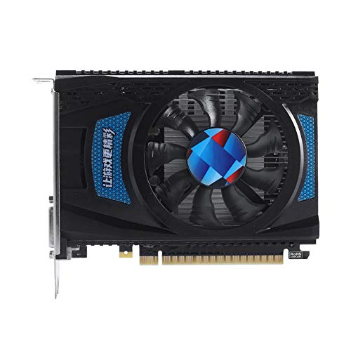 APROTII Radeon RX550 2GB GDDR5 128-Bit Graphics Card,Support DirectX 12 Open GL 4.5 PCI-Express x 16 3.0 HDCP Ready Video Card, DP+HDMI+DVI-D Output