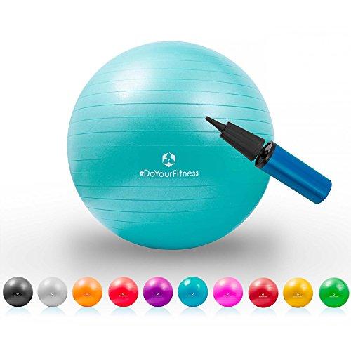 Gymnastik-Ball »Pluto« / Robuster Sitzball und Fitnessball / 65 cm/türkis
