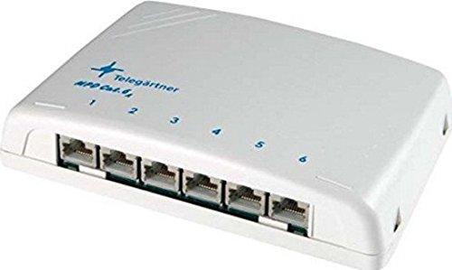 Telegärtner J02021A0050 Cat.6A Mini-Verteiler AP alpinweiß Cat6A 6-fachJ02021A0050 MPD6-HS K geschirmt 6xRJ45, Weiß