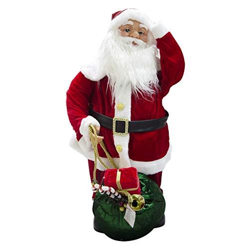 Mediawave Store - Babbo Natale Decorazione per la Casa da 80cm, con Melodie luci e movimenti,...