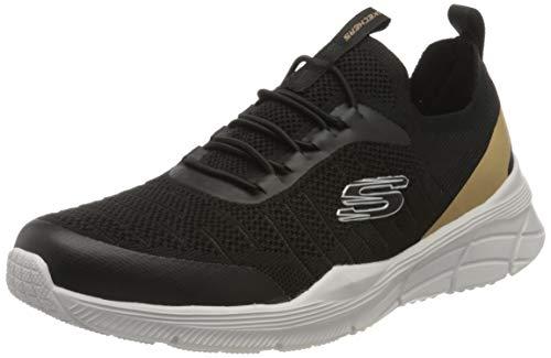 Skechers Equalizer 4.0, Zapatillas Hombre, Negro (Black Mesh/Synthetic/Trim Blk), 45 EU