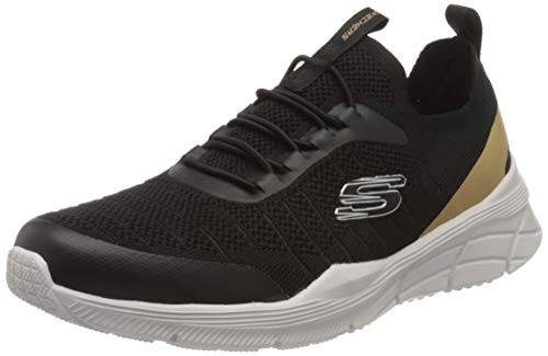 Skechers Equalizer 4.0, Zapatillas Hombre, Ribete sintético Negro de Malla Negra, 43 EU