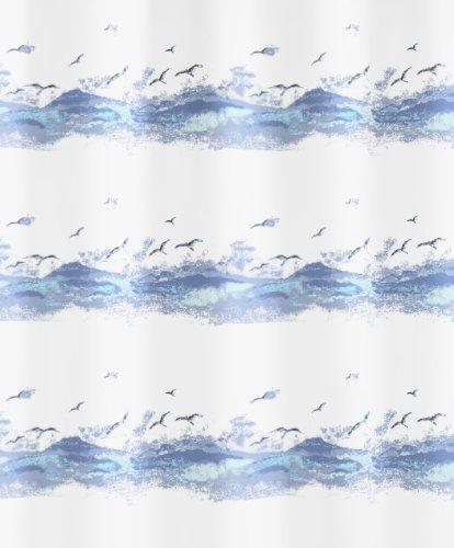 Kleine Wolke 0856733238 douchegordijn Seaside, 120 x 200 cm, krocusblauw