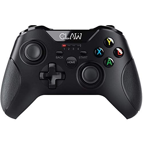 CLAW Shoot Wireless 2.4Ghz USB Gamepad Controller for PC Supports Windows XP/7/8/10 with Rubberized Textured Grip and Dual Vibration Motors