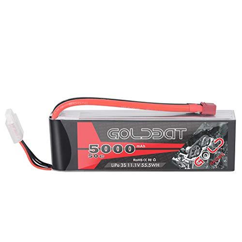 GLODBAT Lipo Batterie 5000mAh 3S 50C 11.1V RC Batterie Soft Pack mit Deans Anschluss für RC Auto LKW Flugzeug Hubschrauber Boot RC Quadcopter