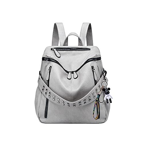 SDINAZ Donna Borse a zainetto viaggio moda casual scuola Borse a spalla marca zaino IT105 Grigio