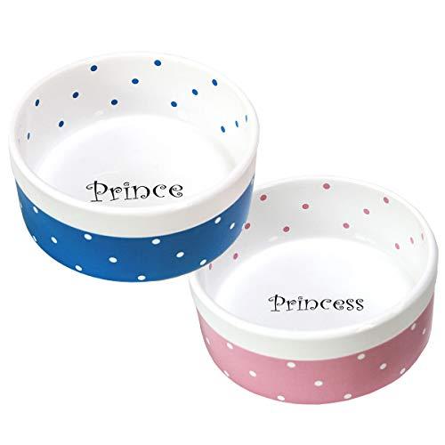 【 人気のドット柄 】iikuru 猫 食器 可愛い 猫用 餌入れ 犬用 水飲み 器 ねこ 子猫 水入れ 皿 子犬 水 えさ 入れ ペット 犬 小型犬 フード ボウル 2個 セット y294