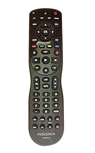 Insignia 4 Device Universal Remote Control NS RMT415, Black Compatible with TVs, Cable Satellite, DVD Blu ray Players, and Streaming Devices Including Apple TV, Roku, and Google Chromecast