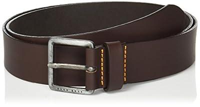 Boss Orange Men's Jeeko Italian Leather Belt, dark brown, US 34