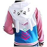 Cosplaybala Lovely Girl Jacket Song Hana Bunny Ear Coat DVA Cosplay Hoodies (S, Blue)