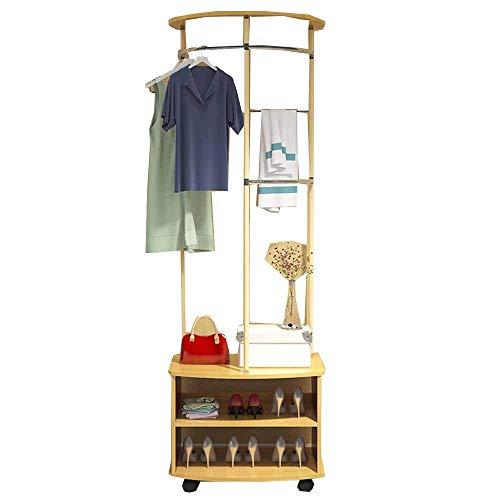 FVGH houtsector Multifunctionele kapstok met schoenenkast Vloerstaande kapstok Hangers Slaapkamer woonkamer foyer studie B