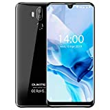 OUKITEL K9 Unlocked Cell Phones 7.12' FHD+ Water Drop Screen 4GB RAM+64GB ROM,16MP+8MP Dual Camera, 6000mAh Battery 4G Android 9.0 Unlocked Smartphones, Dual SIM Smartphone Support OTG(Black)