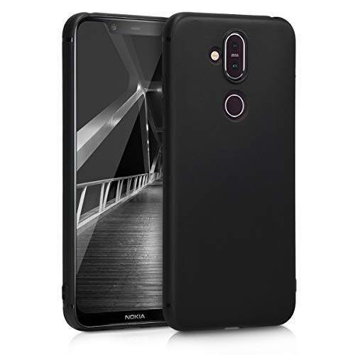 kwmobile Hülle kompatibel mit Nokia 8.1 (2018) / X7 - Hülle Silikon - Soft Handyhülle - Handy Hülle in Schwarz matt