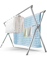 物干し 布団干し 伸縮式 ステンレス ものほしざお 屋外 梅雨対策 折り畳み 省スペース 風に強い 錆びない 大容量 長さ調節可能1.2-2M 強化版 x型 FEILE (1.2-2m)
