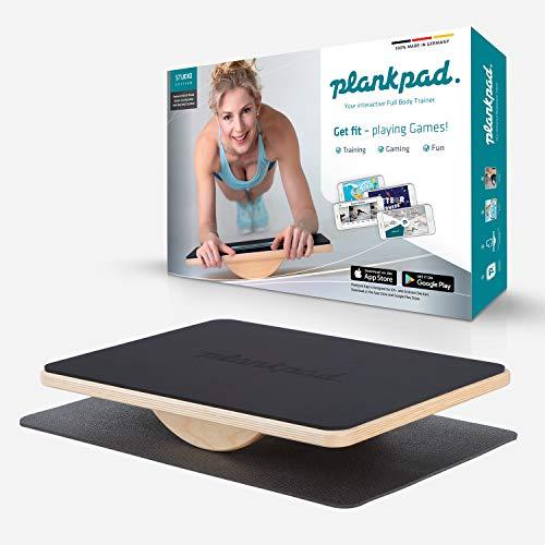 plankpad Studio - entraîneur interactif pour tout le corps et planche d'équilibre - entraîneur de fitness à domicile Fabriqué en Allemagne avec application pour smartphone avec jeux et entraînements