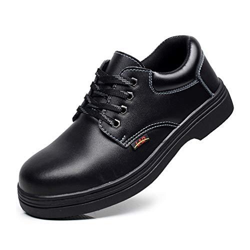 LXHK Zapatos de Seguridad para Hombre con Puntera de Acero, Calzado de...