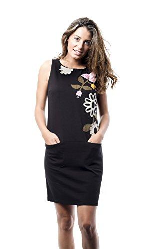 Mamatayoe La Garoupe Vestido Casual, Negro (Black), Large (Tamaño del Fabricante:L) para Mujer