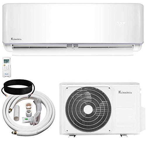 Klimaire 12,000 BTU KSIV 19 SEER Ductless Mini-Split Inverter Air Conditioner Heat Pump System with 15-ft Installation Kit 115V