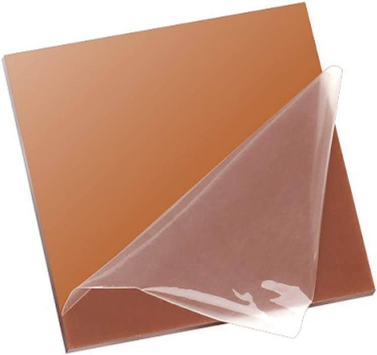 XMRISE Acrylic Sheet Clear Cast Board Plexi Glass Panel Plastic Display Brown Translucent Easy to Cut Bend DIY,13.7x19.6x0.08