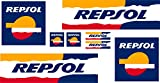 Pegatina Adhesivo REPSOL Impresion Digital Laminado Hoja (20 cm x 10 cm) 8 Unidades