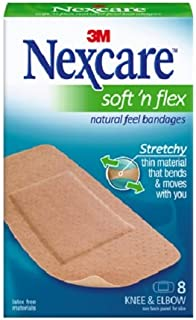 Nexcare Soft 'n Flex Bandages,  Flexes and Conforms to Moving Body Parts,  8-Count Packages (Pack of 6)
