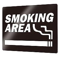 オリエンタライズ プレート看板「タバコタイプ_E005」素材:アルポリ (Mサイズ) SMOKING AREA [両面テープタイプ] 看板 店舗標識 プレートサイン 屋外 屋内 防水 喫煙スペース 喫煙所 喫煙 タバコ