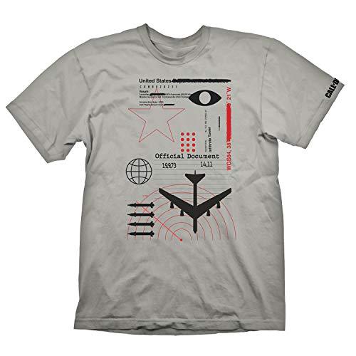 """Call of Duty: Cold War T-Shirt """"Radar"""" Light Grey Size S"""