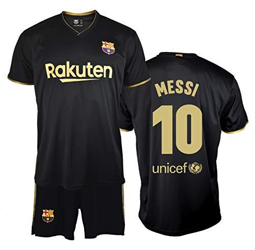 FC. Barcelona Ensemble maillot et pantalon Replica 2a EQ saison 20/21 enfant – Produit sous licence – Dorsal 10 mois – 100 % polyester – Taille 6 ans