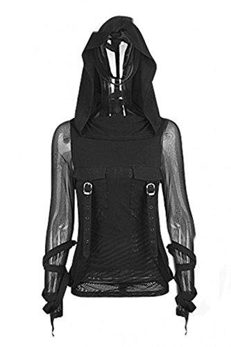 Dark Dreams Emo Gothic Steampunk Punk Top Shirt Hoodie Kapuze Perfect Order Top 36 38 40 42, Größe:XXL