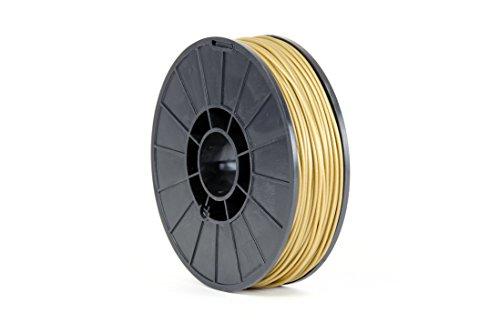 Aleph Objects Inc - Filamento per stampante 3D NinjaFlex, TPE, 3 mm, bobina da 0,75 kg, colore: oro, oro, 12