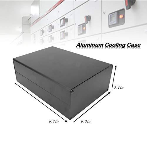 Custodia in alluminio,80x160x220mm Tipo split Scatola di alluminio per custodia di raffreddamento Scatola elettronica per involucro in alluminio a dissipazione di calore del controller, GPS