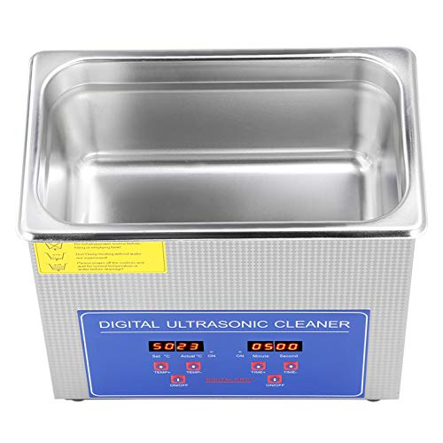 Digital Ultra Sonic Cleaner, 2L LED Display Bath with Heater Timer and...