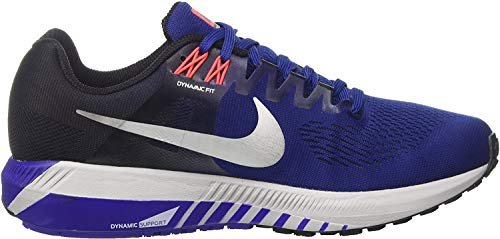 Nike Herren Air Zoom Structure 21 Laufschuhe, Blau (Deep Royal Blue/black/concord/metallic Silver) , 42 EU