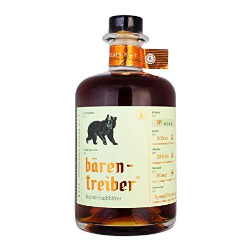 LAUX® Bärentreiber Kräuterhalbbitter - Premium Likör - Würzige, Harmonische Noten & Feinherbes Aroma - Hochwertige Zutaten - 38 % Vol. & 0,5 L