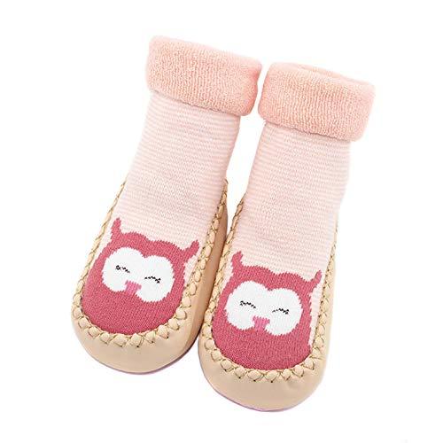 Zapatillas de bebé calcetines primeros zapatos para caminar oso y conejo zapatos para niños pequeños dibujos animados forma de animales zapatos antideslizantes suaves de piso para bebé