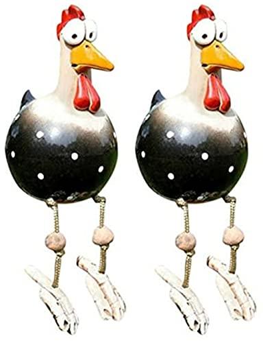 MKDASFD Decoración de jardín con forma de gallina, divertido jardín, decoración de gallina, decoración de jardín, decoración de animales, adorno hecho a mano