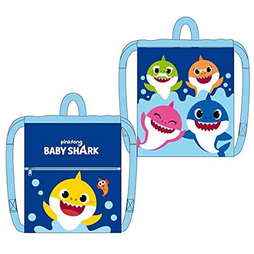 Cerdá - Mochila Saco de Baby Shark - Licencia Oficial Nickelodeon