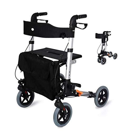 Fhxr Rollator Gehwagen für die Wohnung/Straße Leichtgewichtrollator höhenverstellbar I für Personen mit Menschen mit reduzierten Beinen