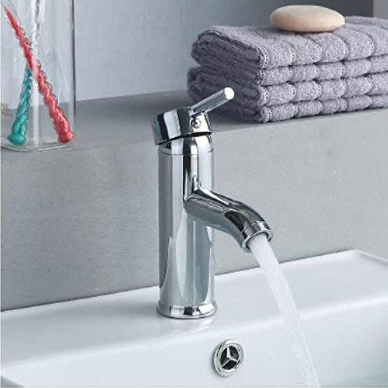 Oudan All Copper Single Hole Basin Basin Handbasin Faucet Bathroom Cabinet Cold Hot Faucet Washbasin Basin Mixing Valve Ceramic Disc Spool,A (color   B, Size   -)