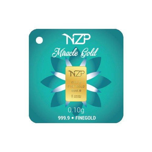 Nzp Goldbarren 0,10 Gramm Goldbarren, 0,10g Gold, Feingehalt 999,9