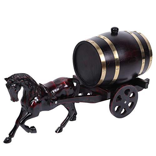 Wijnvat, Huishoudelijke Eiken Houten Wijnvat Keg Emmer Paard-getrokken Karren Whiskey Barrel Ornament 3L Brouwen Accessoires