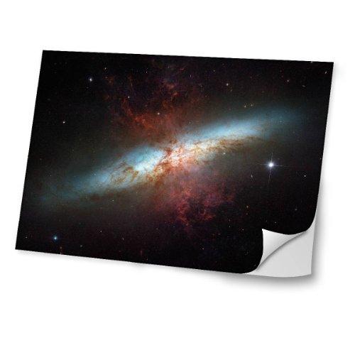 """Virano Weltraum 10153, Kosmos, Skin-Aufkleber Folie Sticker Laptop Vinyl Designfolie Decal mit Ledernachbildung Laminat und Farbig Design für Laptop 12.5\"""""""