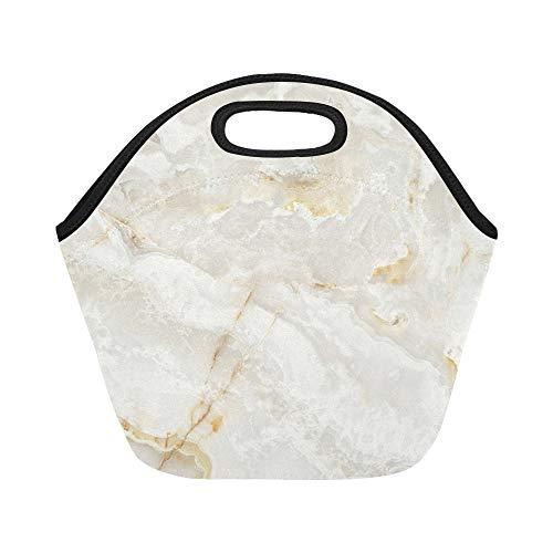 Isolierte Neopren-Lunchpaket-Marmorbeschaffenheit Große wiederverwendbare thermische dicke Lunchpaket-Tragetaschen für Brotdosen Für draußen, Arbeit, Büro, Schule