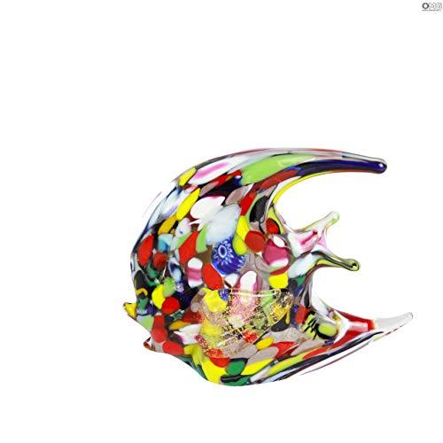 Figura de pez de cristal de Murano OMG, hecha a mano