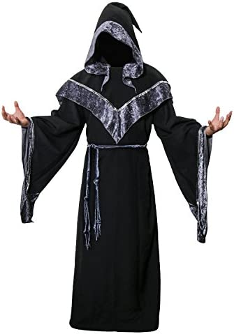 K211 Master Wizard Monk Hooded Robe Costume