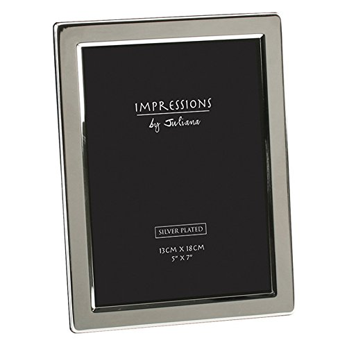"""Silver Plated Flat Edge Picture Photo Frame 5"""" x 7"""""""