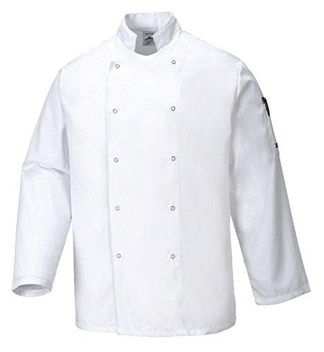 Portwest C833WHRS Giacca da Chef Suffolk, Bianco, S